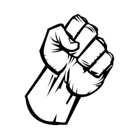 Raised Fist vector icon - Download Free Vectors, Clipart ...