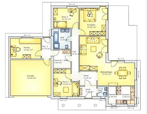 Grundrisse Einfamilienhaus Mit Garage by Haus Mit Integrierter Garage Grundriss Schan Bungalows