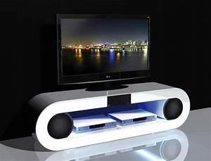Hifi Tv Rack : tv hifi rack 150x42x39 cm hochglanz wei multimedia ~ Michelbontemps.com Haus und Dekorationen