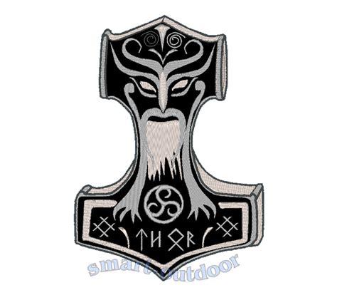 aufnäher xxxl thors hammer mjöllnir wikinger thor