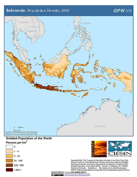 maps population density grid  sedac