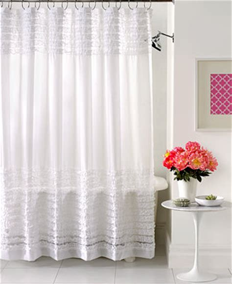 creative bath accessories sheer ruffles shower curtain shower curtains accessories bed