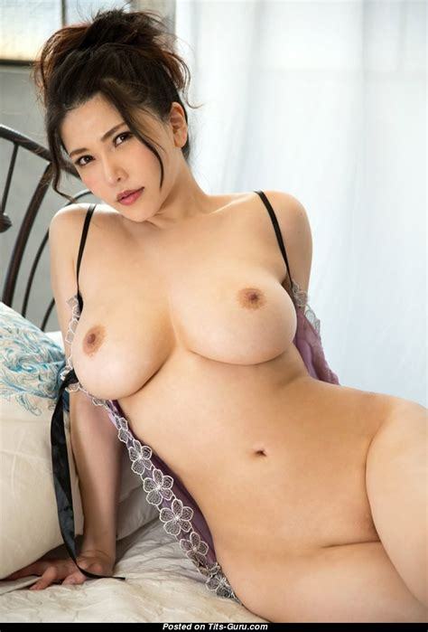 Anri Okita Topless asian Brunette Pornstar With Nude Natural big Sized Chest Sexual Image [19