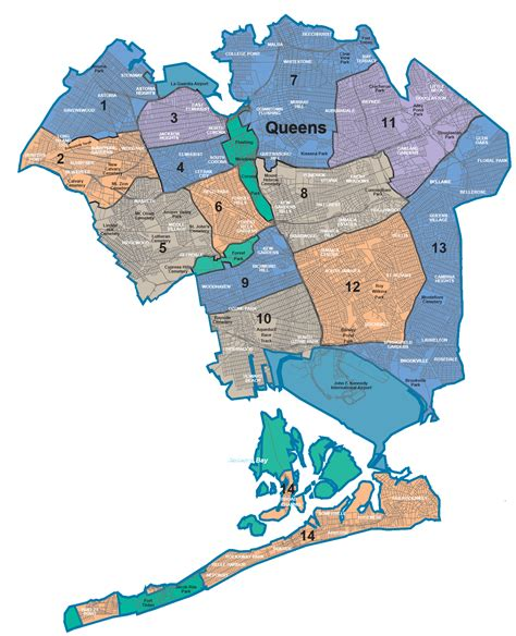 Nycdata Maps Boroughs With Community Districts