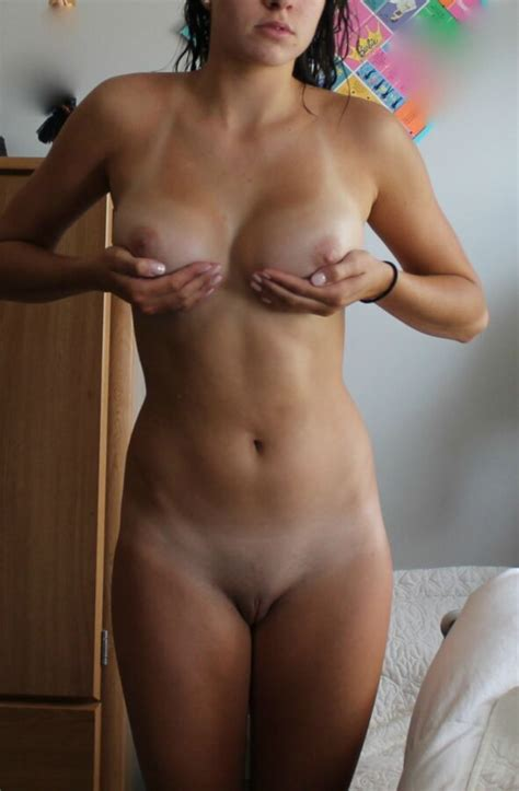 Athletic Brunette Teen With Perfect Tits