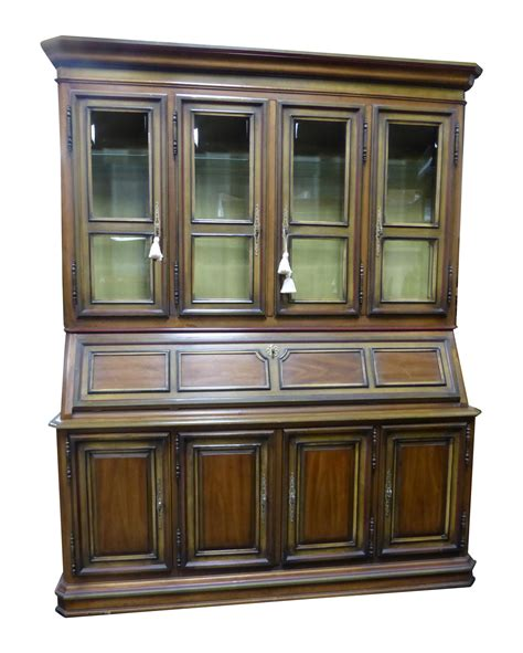 drop leaf desk with hutch french drexel china cabinet hutch drop leaf desk chairish