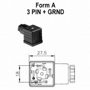 Form A 4 Pin Atam Cne Electrical Din 43650a Solenoid Valve