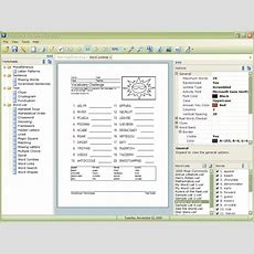 Free Download Vocabulary Worksheet Factory Teachingtools Software