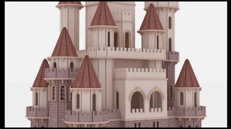fantasy castle doll house laser cutting plans cnc router