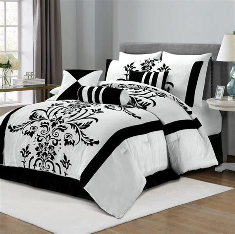 red black and white comforter sets striped bedspreads