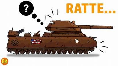 Tank Gerand Ratte Drawing Menggambar Cara