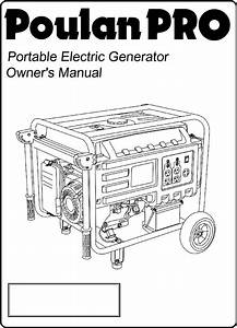 Poulan Portable Generator Pp6600 User Guide