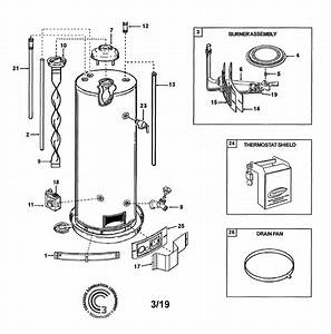 State Gs650hbrt301 Gas Water Heater Parts