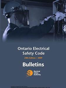 Electrical Safety Code Bulletins 2009