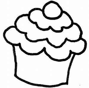 Cupcake Outline - Clipartion.com
