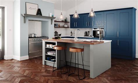 Clonmel Shaker Kitchen Stone & Parisian Blue   Kitchen Stori