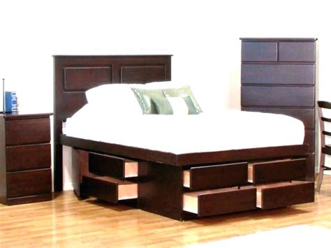 Platform Beds With Storage Underneath Full Bed With