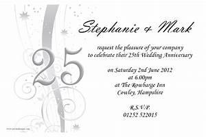 amazing 25th wedding anniversary invitations theruntimecom With 25th wedding anniversary invitations