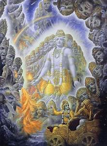 An Fitting Size Chart Krishna Shows The Universal Form Of Vishwarupa To Arjuna