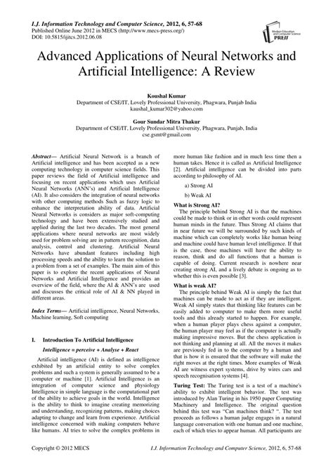 (PDF) Advanced Applications of Neural Networks and