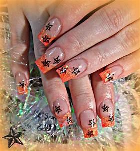 Nautical star acrylic nails | Gel nails, Gel nail designs ...