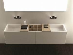 Vasque En Corian : vasque sous plan double en corian canasta by moma design ~ Premium-room.com Idées de Décoration