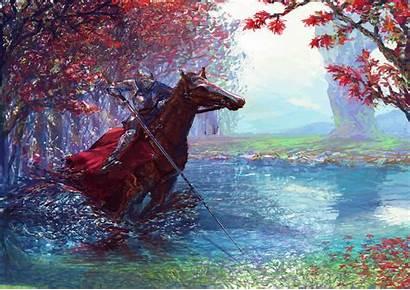 Horse Knight 5k Sword Digital Wallpapers Fantasy