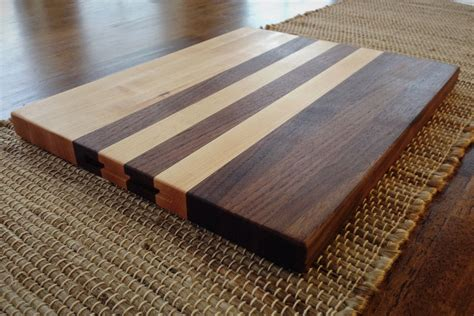 custom walnut  maple edge grain cutting board  callum