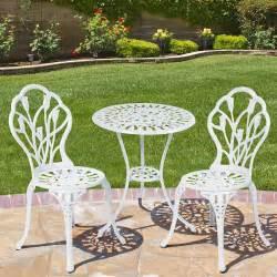 white cast aluminum patio furniture chicpeastudio