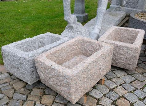 Steintrog Erzgebirge Aus Granit Für Den Garten