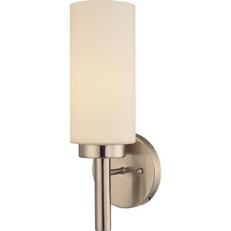 volume lighting 1 light brushed nickel interior wall