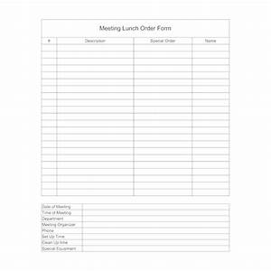 Organizational Chart Example Business Lunch Meeting Order Form