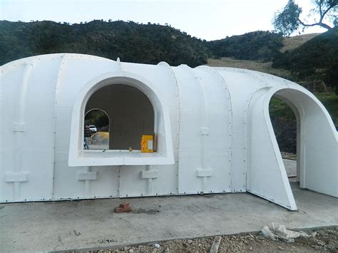 green roofed hobbit home   build    days