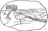 Coloring Beach Pages Scene Supercoloring Printable Drawing sketch template