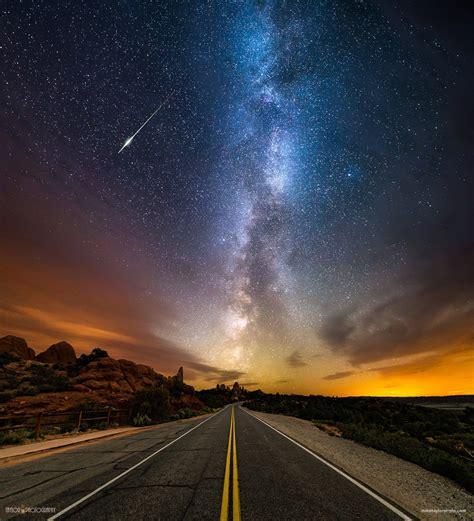 Landscape, Long Exposure, Stars, Road, Milky Way