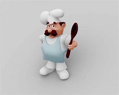 Chef Character 3d Fbx Max Models C4d