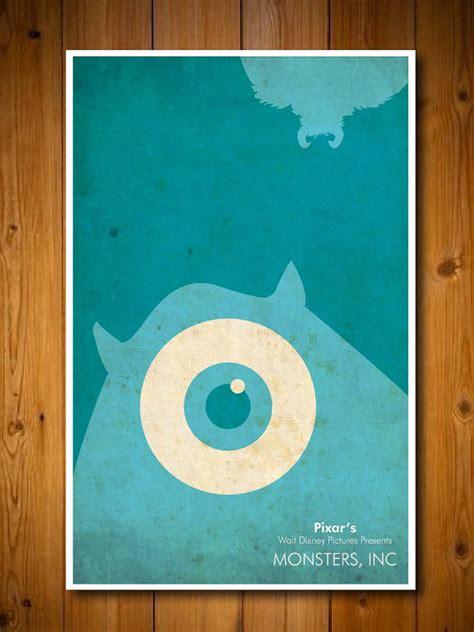 minimalist disney pixar polyptych poster set disney