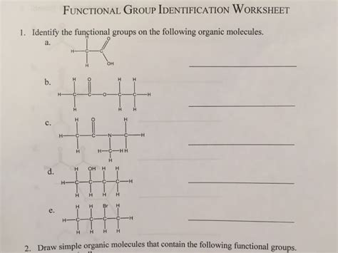 organic functional groups worksheet worksheets for all