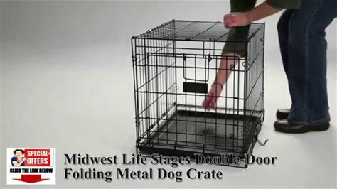stages crate stunning midwest lifestages door fold carry crates
