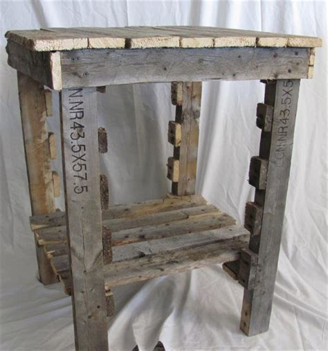 rustic sofa side table pallet furniture plans