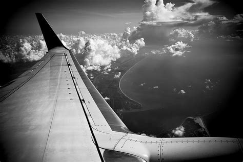 aircraft wings view photography