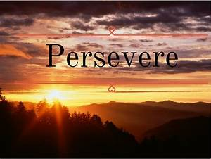 To Persevere - Motherhood's Bliss