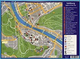 Salzburg Map Tourist Attractions - TravelsFinders.Com