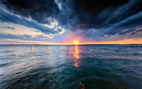 water, Sunset, Storm Wallpapers HD / Desktop and Mobile ...