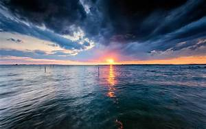 Water, Sunset, Storm, Wallpapers, Hd, Desktop, And, Mobile