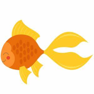 Gold Fish clipart cute - Pencil and in color gold fish ...