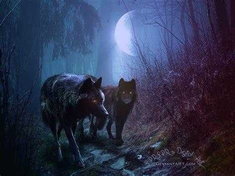Digital Wolf Wallpaper by The Wolf Pack By Sprsprsdigitalart On Deviantart
