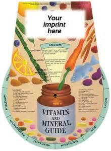 Vitamin & Mineral - Information Wheel - Customizable