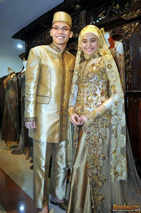 busana kebaya pengantin muslim  acara pernikahan