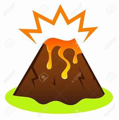Clipart Volcano Eruption Lava Island Vulkan Icon